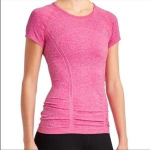 Athleta Pink Fastest Track Tee